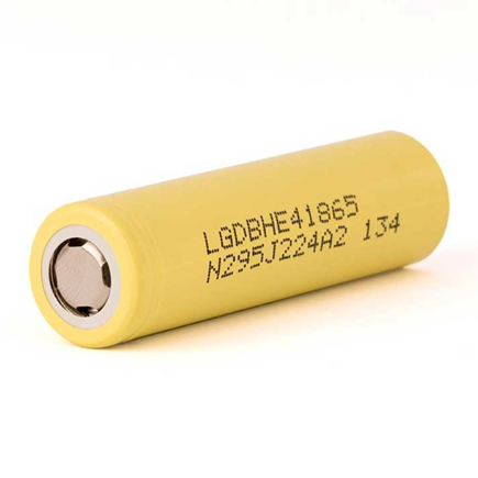 Picture of LG ICR 18650-HE4 2500mAh