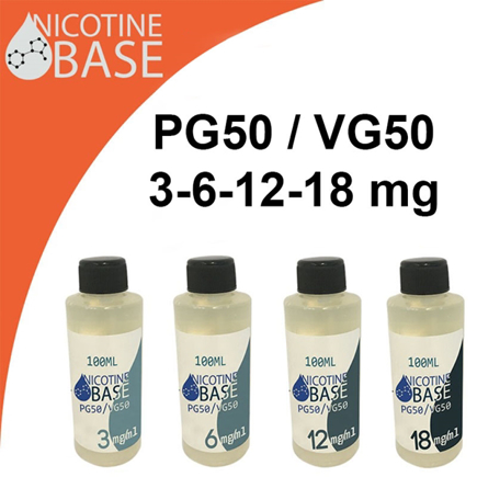 Picture of 100ml Nicotine Base PG30/VG70 3-18 mg/ml