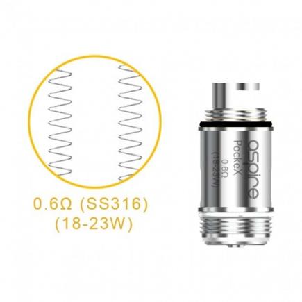 Elektromos cigi Aspire Pockex fűtőbetét 1.2 Ohm